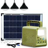 84Wh Power Station Solar Generator Lighting Kit Solar Light With 5m Cable For Home Camping Emergency Power Supply
