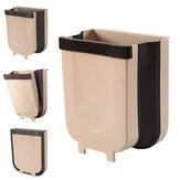 8L Foldable Kitchen Cabinet Door Hanging Trash Can Wall-mounted Waste Basket