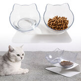 Non-slip Cat Double/Single Bowls with Raised Stand Pet Food Water Bowl Dog Feeder