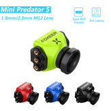 Foxeer Mini Predator 5 Racing FPV Cámara 22 * 22mm 1000tvl 1.8mm / 2.5mm M12 4ms Latencia Super WDR