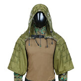 TTGTACTICAL GH28 Military Sniper Ghillie Suit Outdoor Caccia Tactical Airsoft Sniper Camouflage Hood Jacket