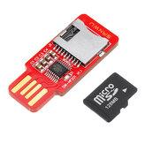 SANWU HF201読み書き可能なTFカードリーダーマイクロSDカード/携帯電話メモリカードT-フラッシュカードモジュールサポートプラグアンドプレイホットプラグ