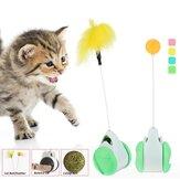 Kedi Interaktif Peluş Oyuncak Yıldız Topları Artı Tüy Yüksek Kaliteli Plastik Malzeme Atma Komik Interaktif Peluş Oyuncak Malzemeleri