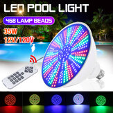AC12V/120V E27 35W LED Swimming Pool Light IP68 RGB Underwater Lamp+Remote Control