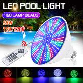 AC12V / 120V E27 35W LED Natação Piscina Luz IP68 RGB Lâmpada subaquática + controle remoto