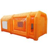 Costume inflável da barraca da cabine da pintura à pistola da estação de trabalho gigante com 2PCS ventilador 110V 6 * 3 * 2.5m
