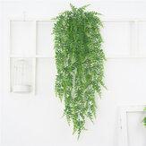 Cây thường xuân Hoa nhân tạo Nhựa thực vật xanh Vòng hoa dây leo Hoa nhân tạo tường cho trang trí tường nhà