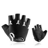 ROCKBROS S145 Cycling Gloves For Kids Bike Breathable Sports Glove Gel Pad Half Finger Shockproof Boys Girls