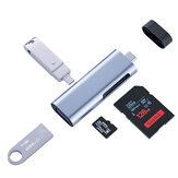 4-in-1 Card Reader USB-C Type-C to USB 3.0 OTG Hub Adapter Type-C SD TF Memory Card Reader