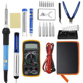 25 In 1 60W Electric Solder Iron Welding Tool Kits Adjustable Temperature Multimeter