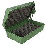 LED Taschenlampe Werkzeuge grüne Box für einfaches Tragen 18cm x 12cm x 5cm