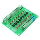 8チャンネル24V〜5Vフォトカプラ絶縁モジュールPLC信号レベル電圧変換ボードNPN出力DST-1R8P-N