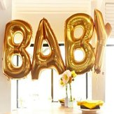 16/40 cali Gold Silver Foil Balloons Mylar Baby Letter Alphabet Party Decor