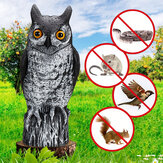 Realistic Bird Scarer Simulated Owl Decoy Outdoor Protection Repellent Bird Pest Scarer Garden Yard Decoration