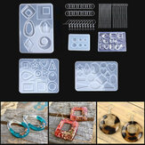 248Pcs Resin Casting Molds Jewelry Making Silicone Mould Metal Pendant Craft Kit