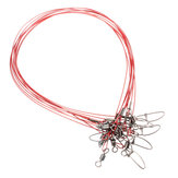 10Pcs 50cm Fishing Lures 316 Stainless Steel Wire Trace Leader Spinner Swivel Line