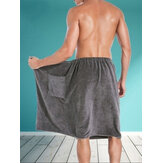 Mens Bathtub Skirt Soft Comfortable Absorbent Beach Towel Sleepwear