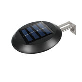 9 LED Solar Powered Fence Roof Sink Garden Courtyard Wall Light Automatic On/Off Cold