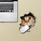 Cat Mouse Pad Sticker Mouse Mat Decals PAG Waterproof Desk Stickers Removable Cat Home Decor Gift