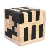 54Pcs Wood Magic Intelligence Game 3D Houten Puzzel Brain Teaser Magic Tetris Cube