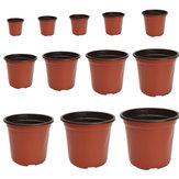 100 Adet Plastik Bahçe Kreş Pot Çiçek Pişmiş Toprak Fide Dikim Konteynerler Set