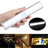 10 LED Czujnik ruchu Oświetlenie szafy Bezprzewodowa szafka nocna Zasilana bateryjnie wewnątrz
