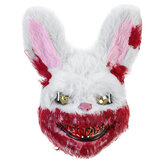 Bloody Rabbit Plush Mask Halloween Ghost Festival Horror Mask Cute Rabbit Headgear