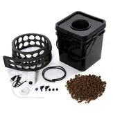 15L Soilless Cultivation Planting Barrels Hydroponic System Kit Grow Bucket with 2.5W Air Pump