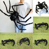 Halloween Black Plüsch Riesenspinne Realistische haarige Spinne Spukhaus Prop Halloween Party Scary Decoration