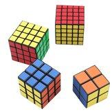 4Unids Conjunto de Juguetes de Cubo Mágico Clásico 2x2x2 y 3x3x3 4x4x4 y 5x5x5 PVC Pegatina Cubo de Velocidad de Bloque