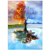 DIY Diamond Painting Reflection Tree 5D Full Drill Living Room Bedroom Hanging Pictures Handmade Wall Decorations Gifts for Kids Adult