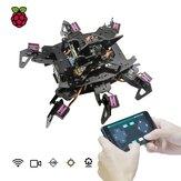 Adeept®RaspClawsヘキサポッドスパイダーロボットキット(Raspberry Pi 4モデル4B / 3B用)STEAMクロールロボットOpenCVターゲットトラッキングビデオ送信