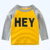 Boys Children Printed Long Sleeve Koszulki Dla 3Y-12Y
