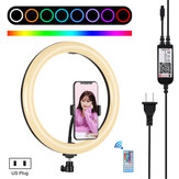 PULUZ PU411 12 Inch 6000-6500k Dimmable LED RGB Video Ring Light with Remote Control for Selfie Vlog Tik Tok Youtube Live Streaming