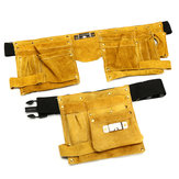 Leather Electrician Tool Waist Bag 8/14 Pockets Carpenter Electrician Tool Pouch