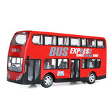 Wireless remoto Control RC Auto elettrica a due strati Express City Bus con modello luce a led