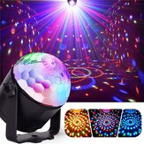 7W RGBYW Aktywowany głosem Pilot LED Crystal Magic Ball Stage Light dla Bar Show AC100-240V