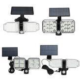 متعدد الوظائف LED انقسام الجدار الشمسي ضوء جسم الإنسان المستشعر ضوء حديقة خارجية ضوء