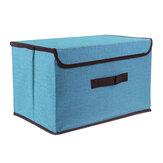Armazenamento de pano dobrável Caixa Organizador à prova de poeira com capa Organizador de roupas e diversos diversos usos para roupas, livros, brinquedos