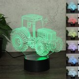 Tractor Drag Racing 3D Night Color claroful LED Controlador USB Lámpara Toque Control remoto