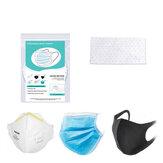 BIKIGHT 100 Adet Tek Kullanımlık Ağız Maske Ped PM2.5 Filtre Koruma Pedi Rahat Nefes Yüz Maske Filtre Mat