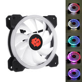 Coolmoon 1PCS 120mm Ajustable RGB luz LED Ordenador PC Caso Ventilador