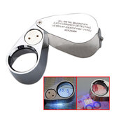 NUEVO 40X Metal Jeweler LED Lupa de lupa de microscopio UV