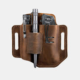 Herren EDC Belt Loop Waist Multitool Sheath Belt Bag aus echtem Leder