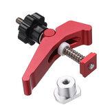 HONGDUI czerwony szybko działający zacisk dociskowy ze stopu aluminium zestaw zacisków t-rowkowych zestaw narzędzi do obróbki drewna do stołu do obróbki drewna