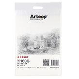 20 Blatt 4K Skizzenpapier 160 g / m3 Aquarellpapier Handgemalte Zeichnungsskizze für Künstler Student Art Supplies Briefpapier