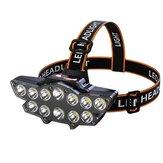 XANES® 12 * P90 LED Farol USB recarregável Long Shoot 4 modos Bicicleta Head Torch Lanterna Impermeável Camping Pesca