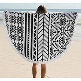 150cm pur coton bohême panicule roud tricotée serviette de plage maison de serviette lanterne couverture