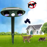 GreatHouse Ultrasonic Dispeller Animal de Energia Solar Ao Ar Livre Do Jardim Animal Scarer Cat Cachorro Repeller