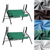 Columpio para exteriores con dos o tres asientos, cortina impermeable sin cubierta superior para actividades
